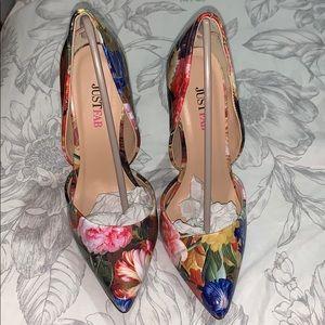 Floral Skinny Heels Never Warn
